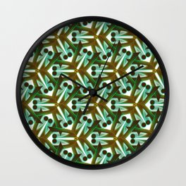 Tiny creatures emerging Wall Clock