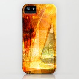 Coming home to harbour iPhone Case