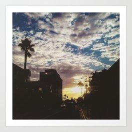 cali sun set Art Print