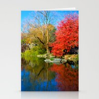 central park Stationery Cards featuring Central Park by Davide Carnevale