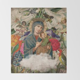 Saints Collection -- Madonna And Child Throw Blanket