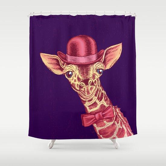 Pink Giraffe. Shower Curtain