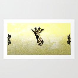 Giraffe Head Art Print