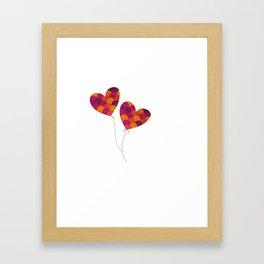 Float away on the breeze Framed Art Print