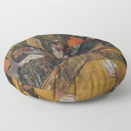 """Henri de Toulouse-Lautrec """"Ball at the Moulin de la Galette"""" Floor Pillow"""