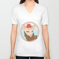 sailor V-neck T-shirts featuring Sailor by Fresco Umbiatore
