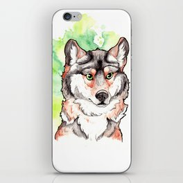 Mexican Gray Wolf Bust iPhone Skin