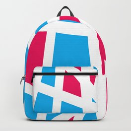 Abstract Interstate  Roadways Aqua Blue & Hot Pink Color Backpack