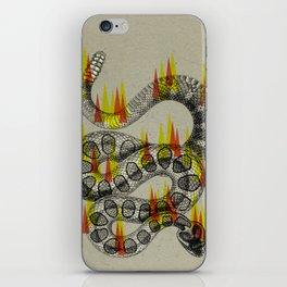 rattlesnake on fire! iPhone Skin