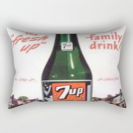 "Vintage Ads: 7Up ""The Fresh Up Family Drink"" Rectangular Pillow"
