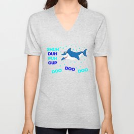 baby shark funny sarcastic annoying song. Unisex V-Neck