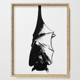Drawing of Hanging Flying Fox Bat Serving Tray