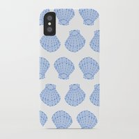shells iPhone & iPod Cases featuring Shells by BIGEHIBI