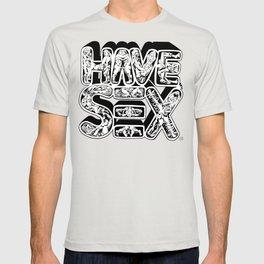 HAVE SEX: black and white edish' T-shirt