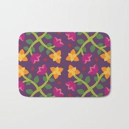 Baltimore Woods Floral Cross Pattern Bath Mat
