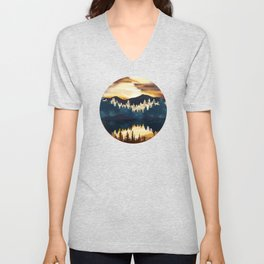 Fall Sunset Unisex V-Neck