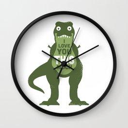 Amourosaurus Wall Clock
