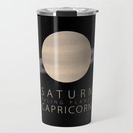 Capricorn - Ruling Planet Saturn Travel Mug