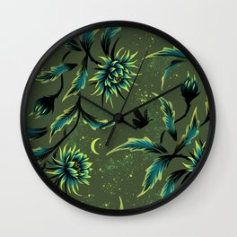 Queen of the Night - Green Wall Clock