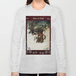Father Christmas 2, Vintage Arthur Rackham Santa Long Sleeve T-shirt