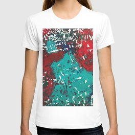 Abstracted Wolf and Kitten T-shirt