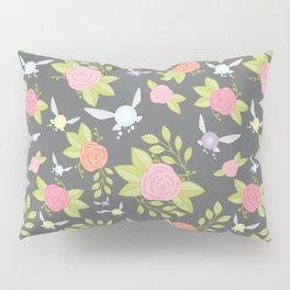 Garden of Fairies Pattern in Grey Pillow Sham