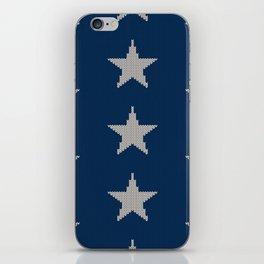 Knitted Stars iPhone Skin