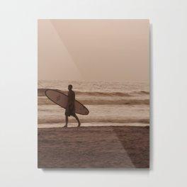 Surfin Metal Print