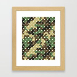 CAMO & WHITE BOMB DIGGITYS ALL OVER LARGE Framed Art Print