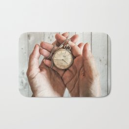 time in your hands Bath Mat