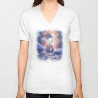 storm V-neck T-shirts featuring Perfect storm.  by Viviana Gonzalez