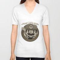 mario bros V-neck T-shirts featuring Mario Bros Fan Art by danvinci