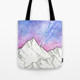 Mountains in the Evening Tote Bag