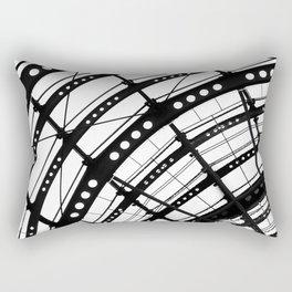 B&W Roof Arc Rectangular Pillow