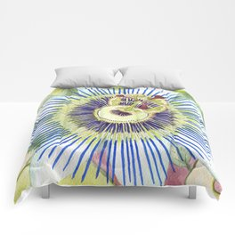 Passionflower Watercolor Comforters