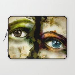 2Eyes2Faces by carographic Laptop Sleeve