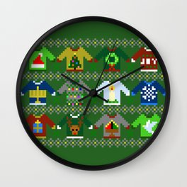 The Ugly 'Ugly Christmas Sweaters' Sweater Design Wall Clock