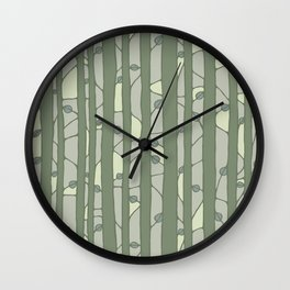 Into The Woods green Wall Clock