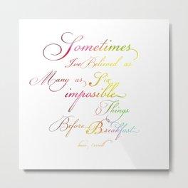 Impossibles Metal Print