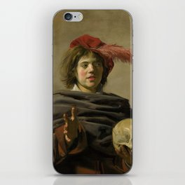 """Frans Hals """"Young man with a skull"""" iPhone Skin"""