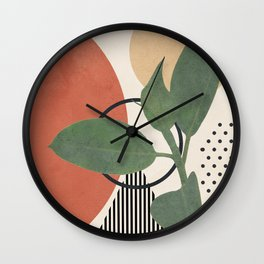 Nature Geometry III Wall Clock