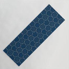 Sanddollar Pattern in Blue Yoga Mat