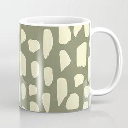spot doodle_cream on sage Coffee Mug
