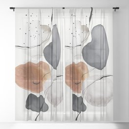 Abstract World Sheer Curtain