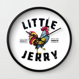 LITTLE JERRY COCKFIGHT CHAMPION Wall Clock