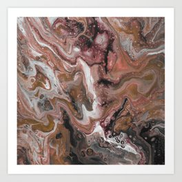 Chocolate Marble Abstract Art Print