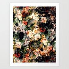 Floral Pattern RPE120 Art Print