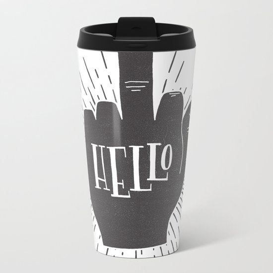 HELLO ASSHOLE Metal Travel Mug