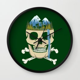 Scull Waterfall Wall Clock