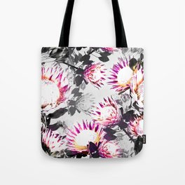 Floral pattern protea Tote Bag